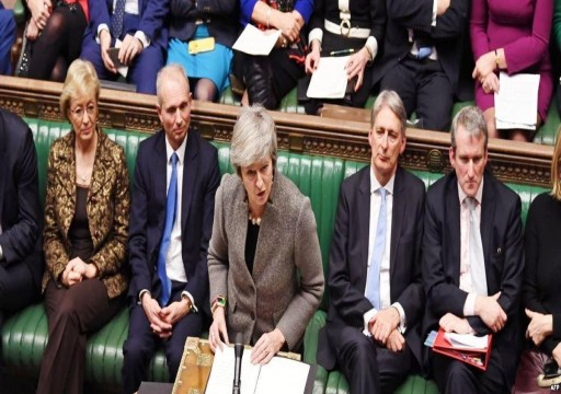 العموم البريطاني يرفض بالأغلبية اتفاق الخروج من الاتحاد الأوروبي
