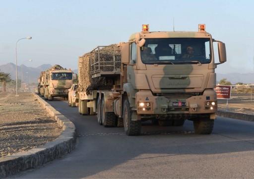 قوة برية عمانية تتوجه إلى الإمارات للمشاركة في المناورات العسكرية