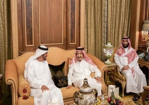 محمد بن زايد يبحث العلاقات الثنائية مع سلمان في الرياض