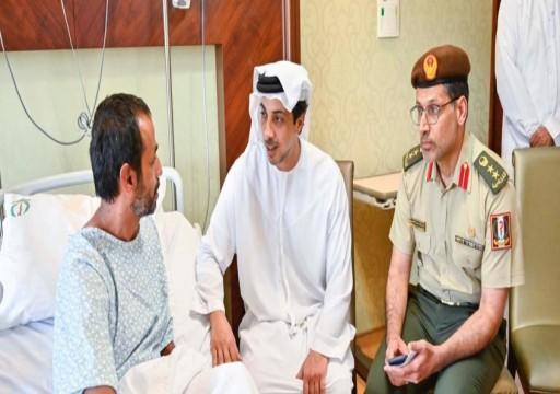 أغفلتهم أبوظبي في البداية.. منصور بن زايد يزور مصابي القوات المسلحة