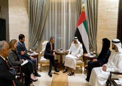 محمد بن زايد يستقبل رئيس اللجنة الدولية للصليب الأحمر