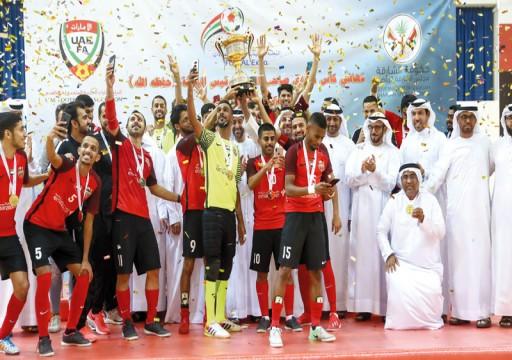 شباب الأهلي يعانق كأس كرة قدم الصالات بعد الفوز على النصر