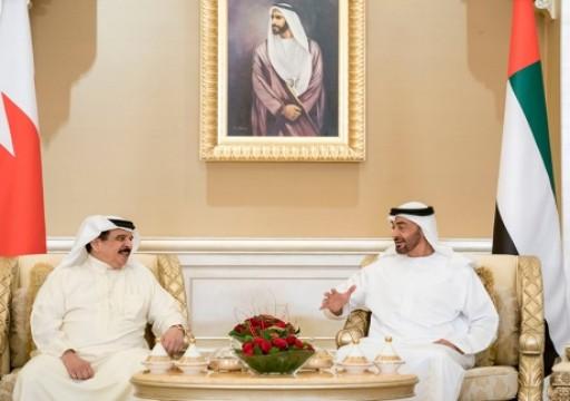 محمد بن زايد وعاهل البحرين يبحثان تطورات المنطقة