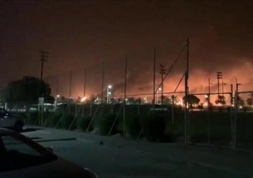 حريق هائل بمعمل أرامكو في بقيق السعودية