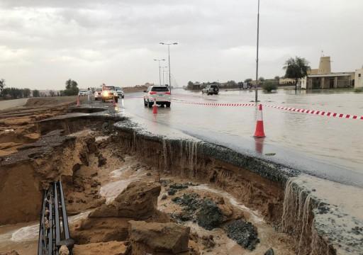 هطول أمطار غزيرة على 7 مناطق وإعلان حالة طوارئ برأس الخيمة