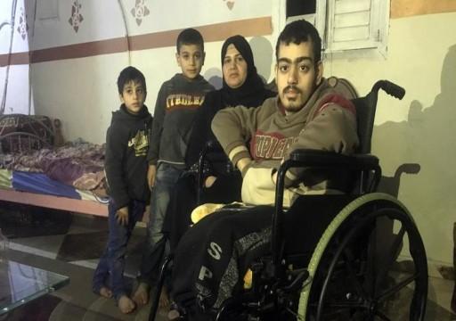 غزة.. بلال السقا أسير الإعاقة والفقر وعقوبات السلطة
