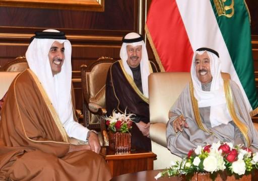 رسالة شفهية لأمير الكويت من نظيره القطري