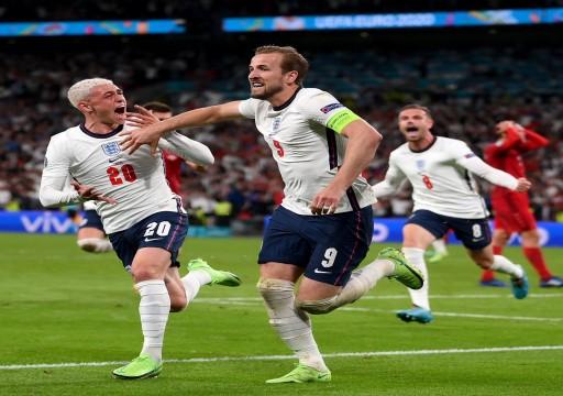 """إنجلترا تهزم الدنمارك وتواجه إيطاليا في """"نهائي يورو 2020"""""""