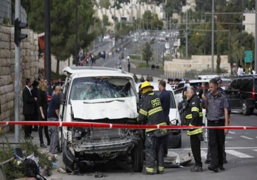 إصابة 4 جنود إسرائيليين في عملية دهس قرب حاجز أمني شمالي القدس