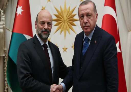 أردوغان يستقبل رئيس الوزراء الأردني