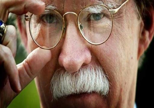 """ذي إنترسيت: """"شيطان البيت الأبيض"""" جون بولتون يحاول تحقيق رغبته في بدء حرب مع ايران"""