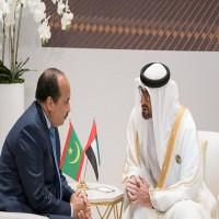محمد بن زايد ورئيس موريتانيا يبحثان هاتفيا العلاقات والقضايا الدولية