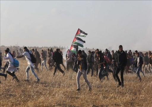 إصابة 60 فلسطينيا جراء اعتداء قوات الاحتلال على متظاهري مسيرة العودة