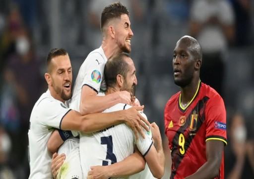 """إيطاليا تهزم بلجيكا وتضرب موعداً مع إسبانيا في نصف نهائي """"يورو 2020"""""""