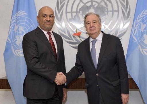 الحكومة اليمنية تحتج على تجاوز موظفي الأمم المتحدة لمهامهم