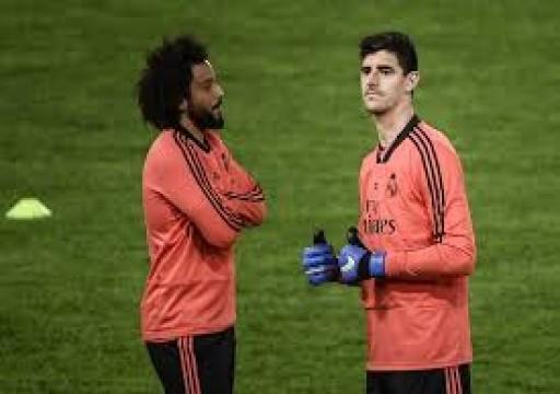 ريال مدريد سيفتقد الحارس كورتوا ومارسيلو أمام مانشستر سيتي