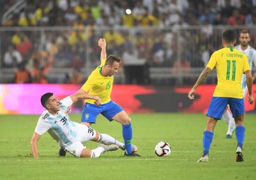 البرازيل تسقط الأرجنتين بهدف وحيد وتتوج بلقب سوبر كلاسيكو