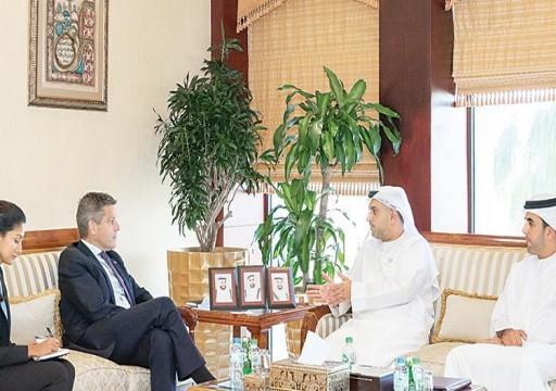 غرفة أبوظبي تبحث مع وفد بريطاني تعزيز التعاون الاقتصادي