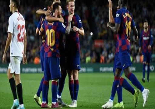 برشلونة يقسو على أشبيلية برباعية نظيفة رغم طرد اثنين من لاعبيه