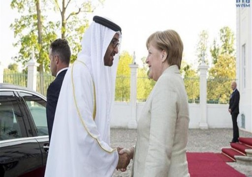 محمد بن زايد يبحث مع المستشارة الألمانية المستجدات الإقليمية