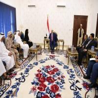 وزيرة التعاون الدولي تلتقي الرئيس اليمني في عدن