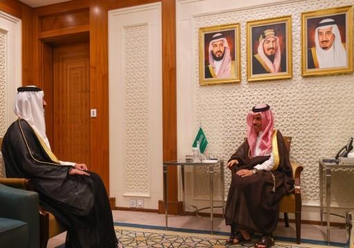 وزير الخارجية السعودي يناقش مع السفير القطري العلاقات وقضايا إقليمية ودولية