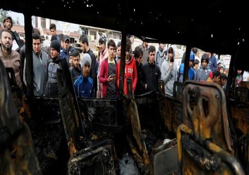 مقتل إيراني وإصابة 7 بتفجير حافلة زوار شمالي العراق