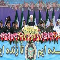 الرئيس الإيراني زاعما: قوة جيشنا لا تمثل تهديدا للدول المجاورة