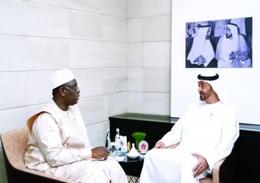 محمد بن زايد ورئيس السنغال يبحثان التعاون