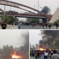 العراق.. مقتل متظاهرين في البصرة وإحراق مبنى المحافظة