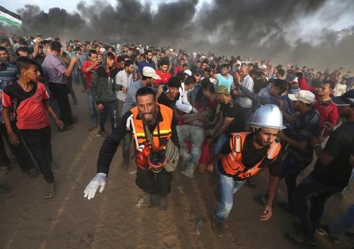 إصابة 33 متظاهرا فلسطينيًا برصاص الجيش الإسرائيلي شرقي غزة