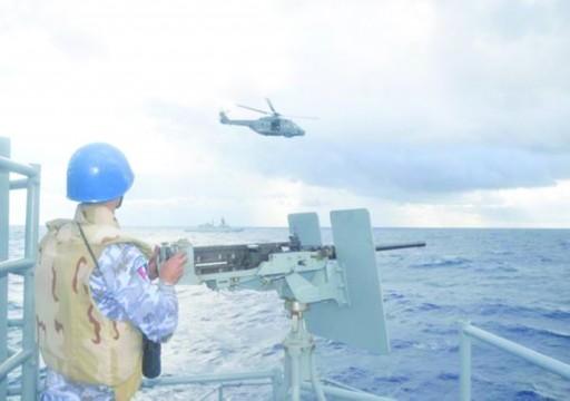 تدريب عسكري بحري مصري - بريطاني - إيطالي في المتوسط