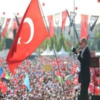 أردوغان أمام حشود الأتراك: إذا لم ندافع عن القدس لن نستطيع الدفاع عن مكة