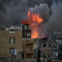 غارات كثيفة للتحالف على صنعاء عشية تشييع الصماد وأنباء عن مقتل قيادات حوثية