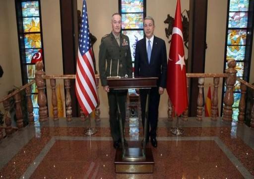 وزير الدفاع التركي ورئيس الأركان الأمريكي يبحثان الأزمة السورية