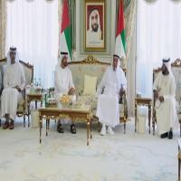 رئيس الدولة يستقبل محمد بن زايد بمقر إقامته في إيفيان بـ فرنسا