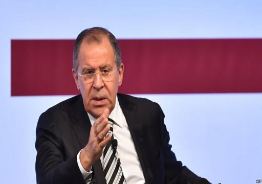 لافروف يعرب عن قلق روسيا من الوضع في الخليج