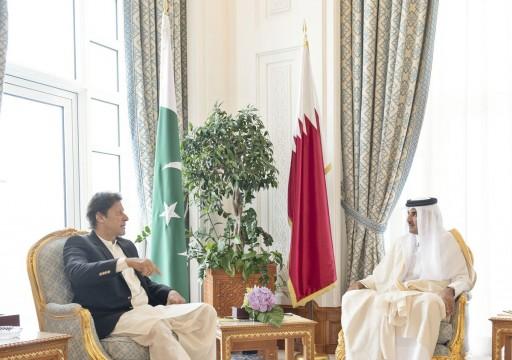 أمير قطر ورئيس وزراء باكستان يبحثان علاقات التعاون