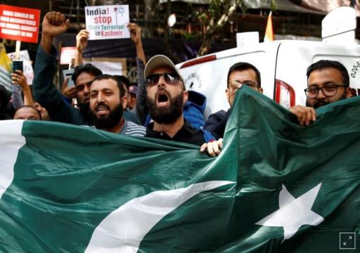 احتجاج الآلاف أمام السفارة الهندية في بريطانيا من أجل كشمير