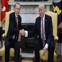 أردوغان وترامب يبحثان هاتفيا التطورات في سوريا