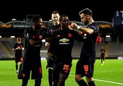 مانشستر يسحق لاسك لينز ويضع قدما في ربع نهائي الدوري الأوروبي