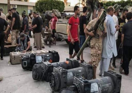 قوات الوفاق تعثر على أسلحة إماراتية في غريان مركز هجوم حفتر على طرابلس