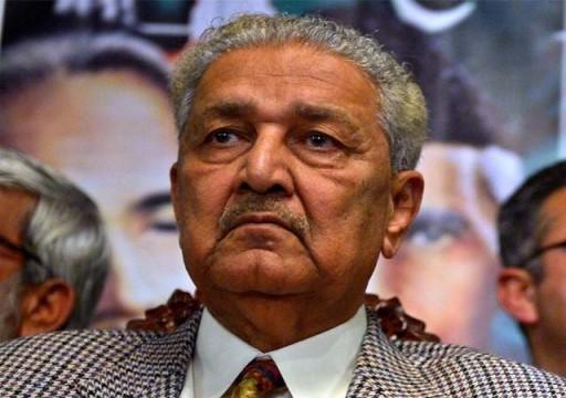 """وفاة """"عبد القدير خان"""" مهندس البرنامج النووي الباكستاني"""