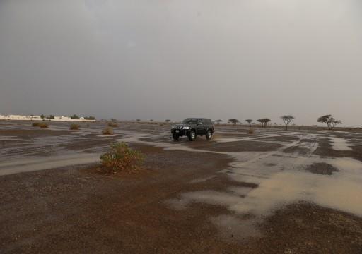 أمطار متوسطة إلى غزيرة على مناطق مختلفة من الفجيرة
