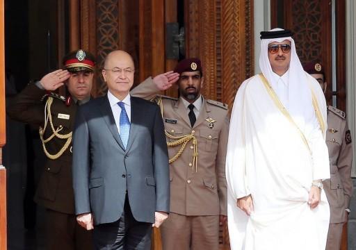 أمير قطر يجري مشاورات مع الرئيس العراقي في الدوحة