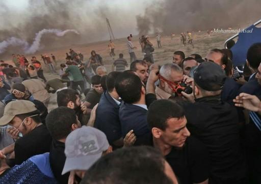 الاحتلال الإسرائيلي يصيب 74 فلسطينيا بينهم 36 بالرصاص شرقي غزة