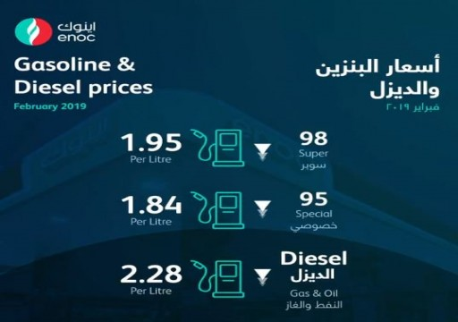 انخفاض طفيف في أسعار الوقود بالدولة لشهر فبراير المقبل