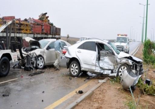 وفاة مواطنة و4 من أبنائها إثر حادث تصادم في السعودية