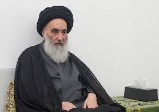 السيستاني يندد بالعنف ضد المحتجين في العراق ويدعو لحكومة تحظى بثقة الشعب