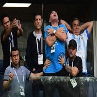 مارادونا يصاب باضطرابات صحية عقب مباراة الأرجنتين ونيجيريا